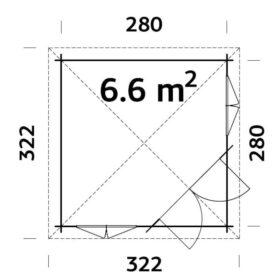 Aiamaja MELANIE (6,6m2)