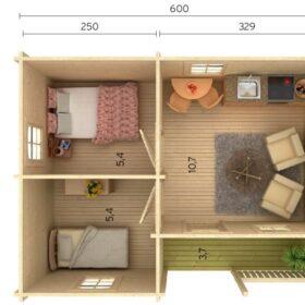 Aiamaja SANDRA (21,5+3,7 m2)