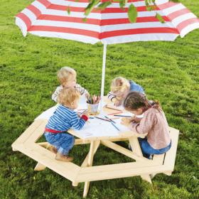 Laste 6-nurkne piknikulaud
