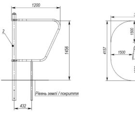 MF-2.5 Parallel bars for push-ups