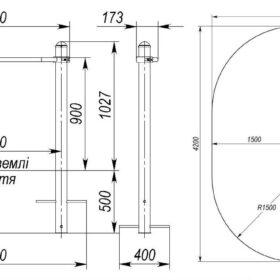 S-832.3 Single pull-up bar 1.1×0.9m