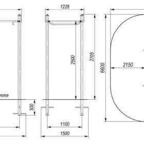 S-833.2 Monkey bar 1,1×2,2×2,5m