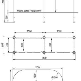 S-834.1 2 level parallel bars