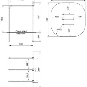 S-834.5 Triple parallel bars 0,6×1,1×1,5m