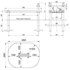 S-835.4 Horizontal bench 1,6 m