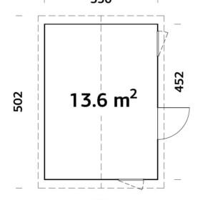 Aiamaja Hedwig 13,6 m2