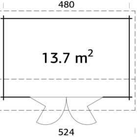 Aiamaja Ines 13,7 m2