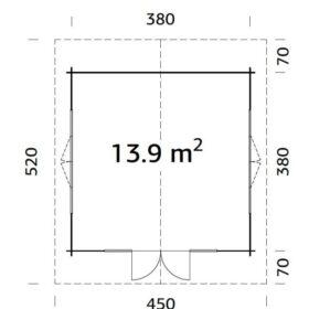 Aiamaja Irene 13,9 m2