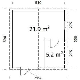 Aiamaja Irene 21,9+5,2 m2
