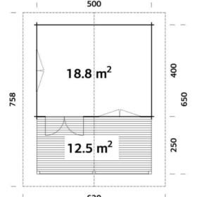 Suvemaja Agneta 18,8 + 12,5 m2