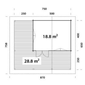 Suvemaja Agneta 18,8 + 28,8 m2