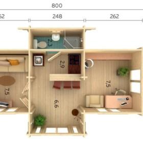Suvemaja Anna 26,8 m2