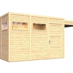 Aiamaja CUBO 3 varjualusega (10,76 m²)