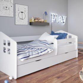 Lastevoodi Kasper voodikastiga – 80×160, valge