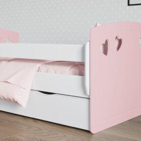 Lastevoodi 'Julia' voodikastiga 80×180,Roosa