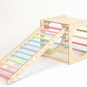 Montessori kuubik redeliga – pastell