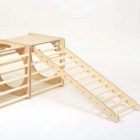 Montessori kuubik redeliga – naturaalne