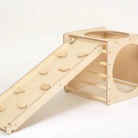 Montessori kuubik ronila/liumäega – naturaalne
