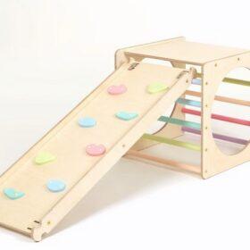 Montessori kuubik ronila/liumäega – pastell