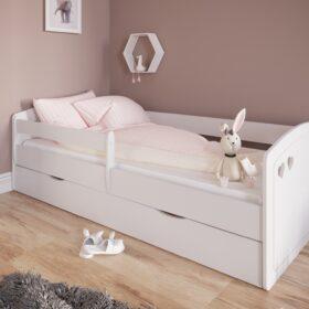 Lastevoodi 'Julia' voodikastiga 80×180,valge