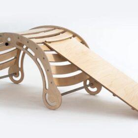 Montessori kiik rambiga XXL – kokkupandav, naturaalne