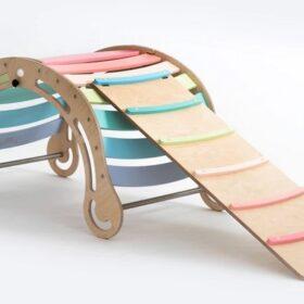 Montessori kiik rambiga XXL – kokkupandav, pastell